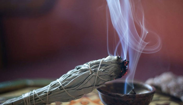smudging a house