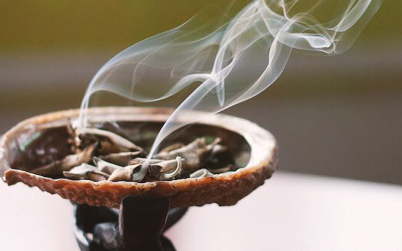smudging is a house cleansing ritual