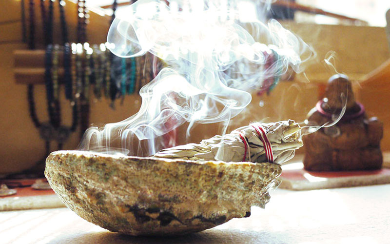 smudging to remove negative energy